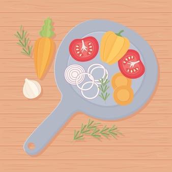 Poêle à légumes