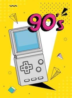 Poignée de jeu vidéo de style années 90