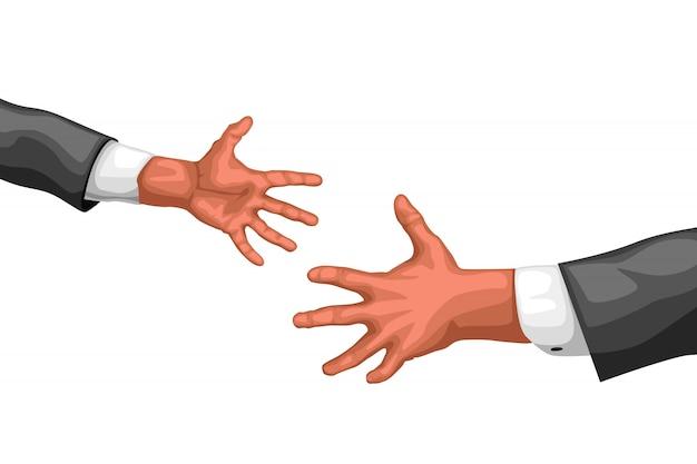 Poignée de main d'hommes d'affaires