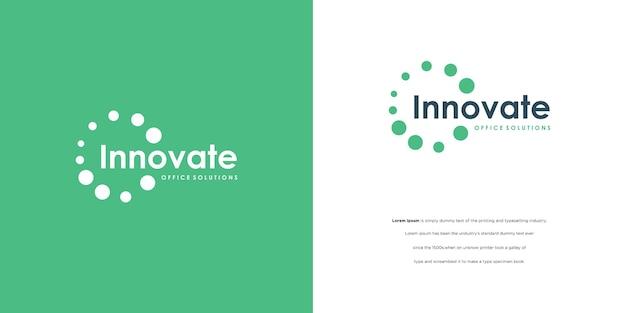 Le point de concept de logo rond connecte le logotype créatif pour d'autres t numériques