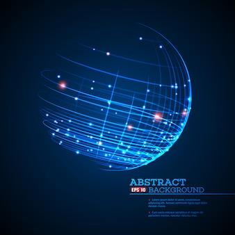Point et courbe construit la sphère wireframe