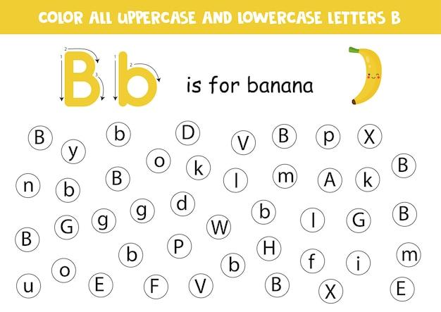 Point ou lettre de couleur b.