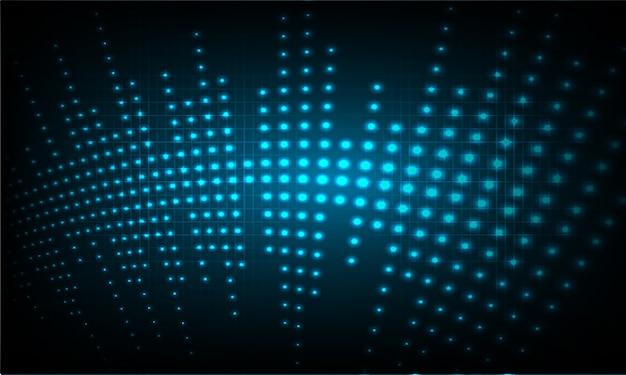 Point d'onde bleu abstrait
