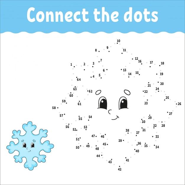 Point à point. tracer une ligne. pratique de l'écriture manuscrite. numéros d'apprentissage pour les enfants. fiche d'activité. avec réponse.