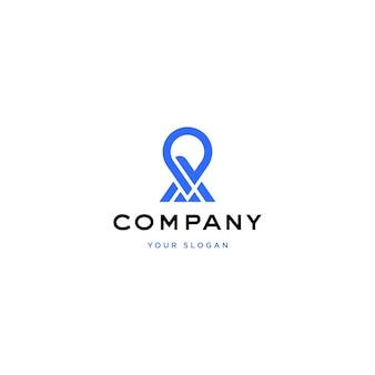 Point, postion, création de logo de carte