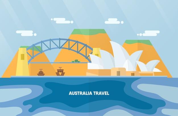 Point de repère de l'australie avec l'opéra de sydney