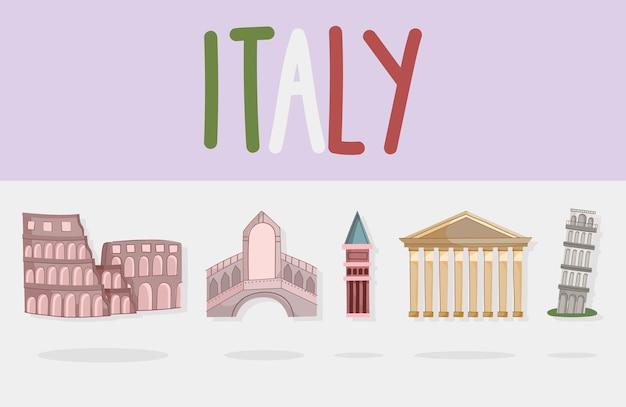 Point de repère célèbre de l'italie