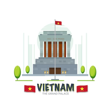 Point de repère du grand palais du vietnam.