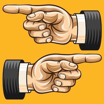 Pointant la main