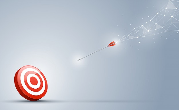 Les pointes de flèche vers le centre de la cible. illustration vectorielle