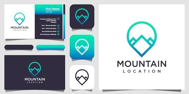 Pointeur de carte avec emplacement en montagne