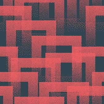 Pointillé bizarre tendance modèle sans couture rouge bleu couleur abstrait