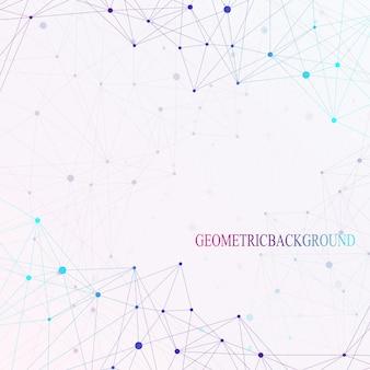 Points d'arrière-plan graphiques colorés avec des connexions pour votre conception. illustration vectorielle