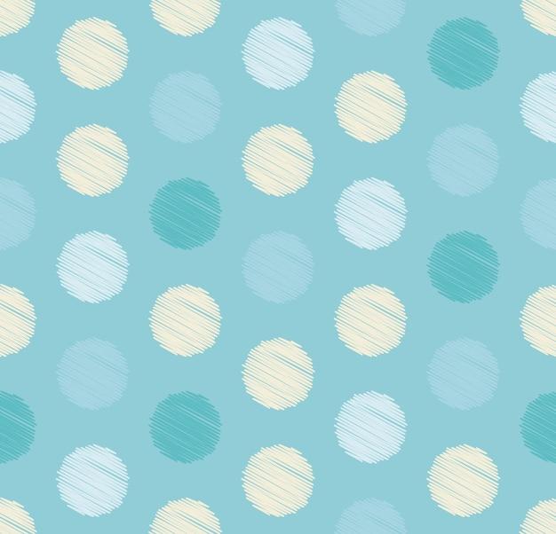 Les points encerclent le motif géométrique sans soudure, fond de couleur hiver.