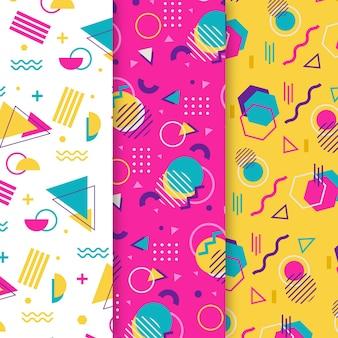Points et formes memphis seamless pattern