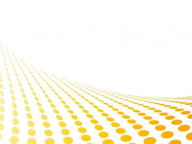 Points perspective jaune dans le fond blanc abstrait