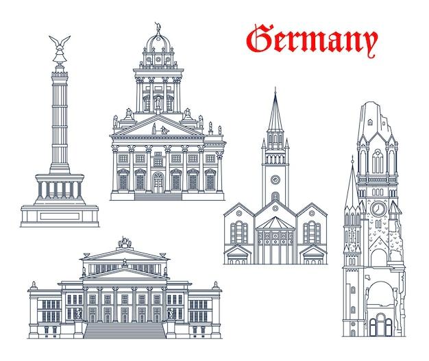 Points de repère de l'allemagne, bâtiments d'architecture de berlin