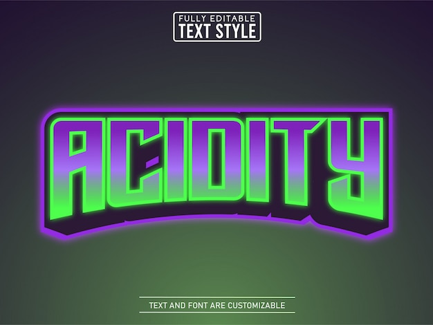 Poison acide cool effet de texte logo esport moderne