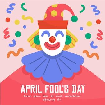 Poisson d'avril avec clown