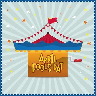 Poisson d'avril jour fond étoile de cirque