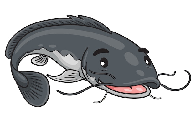 Poisson-chat mignon dessin animé