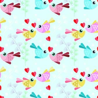 Poisson design coloré avec motif sans soudure de coeur.