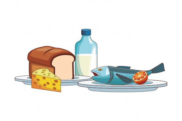 Poisson avec du pain