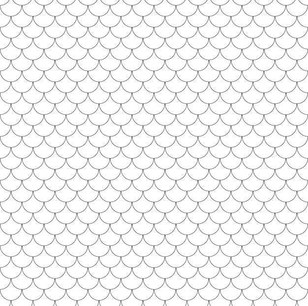 Poisson géométrique écailles modèle sans couture chinois texture de tuile de toit ondulé lignes de vagues
