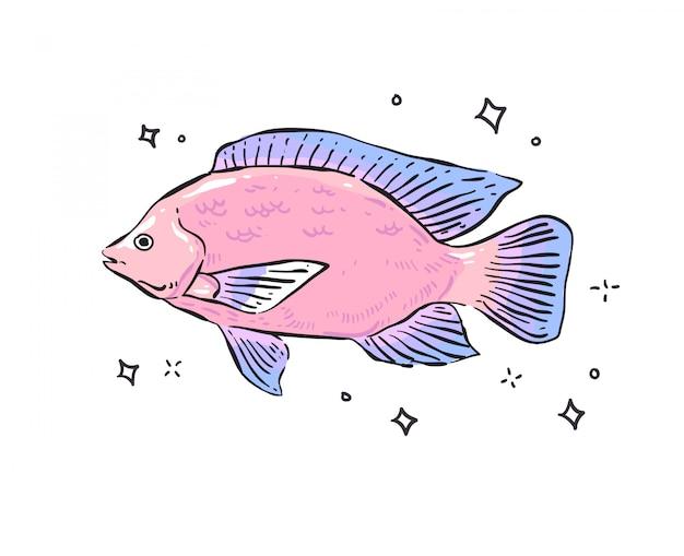 Poisson . griffonnage de poisson