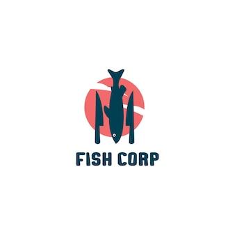 Poisson de logo pour l'illustration de la société de poissons