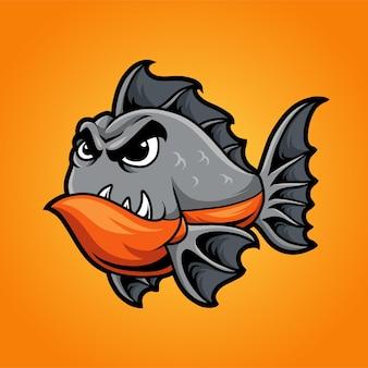 Poisson piranha en colère