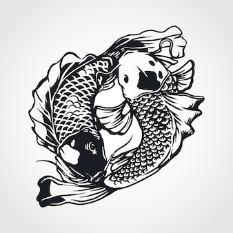 Poisson yin yang koi