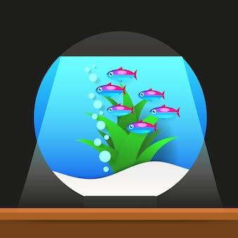 Poissons d'eau douce de dessin animé