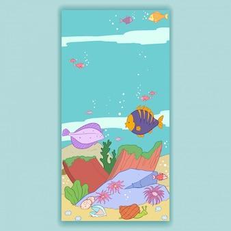 Poissons sur les fonds marins