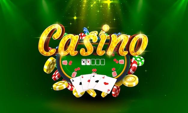 Poker casino coin cash machine jouer maintenant vecteur