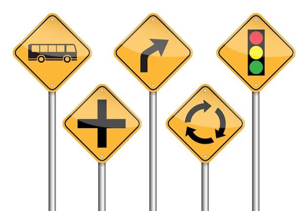 Pôle de panneau de signalisation