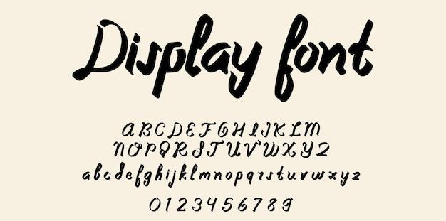 Police d'affichage, alphabet de caractères