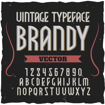Police de l'alphabet carré brandy