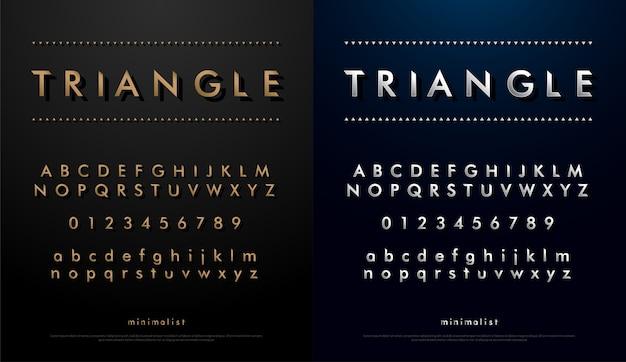 Police de l'alphabet du concept de triangle