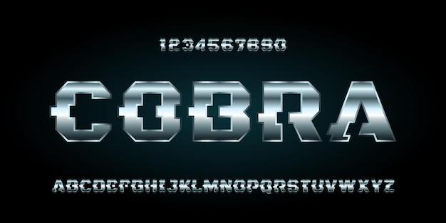 Police d'alphabet futuriste moderne de sport numérique. police de style urbain typographie