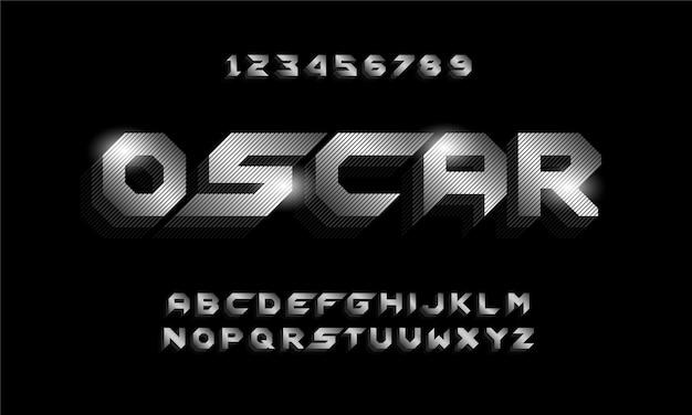 Police d'alphabet futuriste moderne de sport. typographie polices de style urbain pour la technologie, numérique, création de logo de film