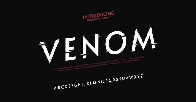 Police d'alphabet d'horreur élégante typographie style urbain
