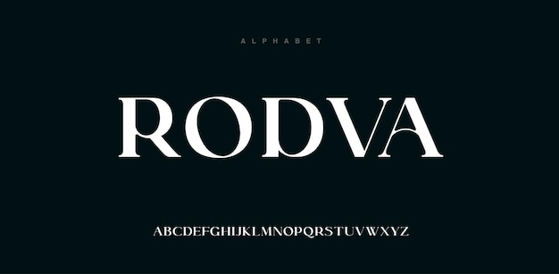 Police de l'alphabet moderne abstrait en majuscules