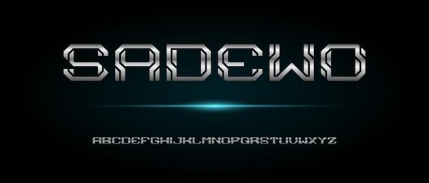 Police de l'alphabet moderne abstrait avec modèle de style urbain