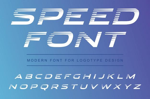 Police de l'alphabet moderne