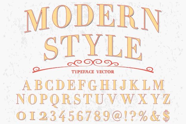 Police alphabet script typeface artisanal style moderne manuscrit