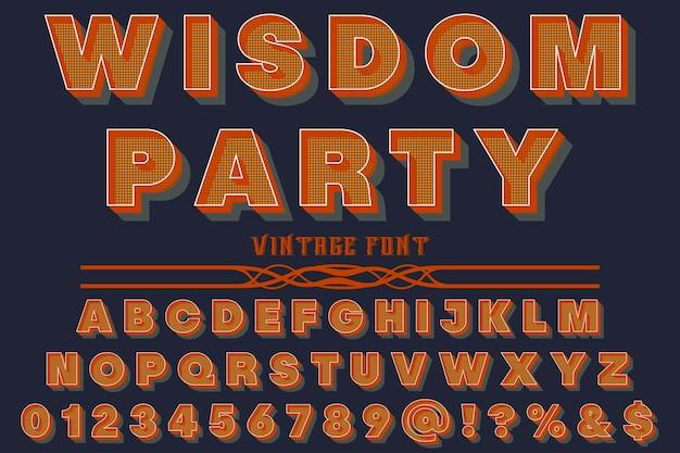 Police alphabet script typeface fait à la main fête de la sagesse manuscrite