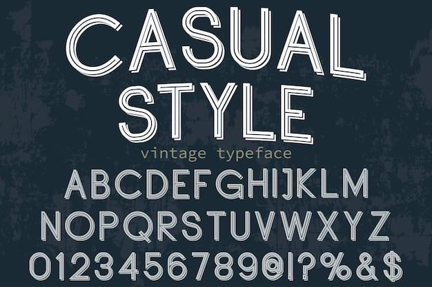 Police alphabet script typeface fait à la main style décontracté manuscrit