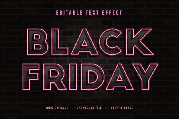 Police et alphabet de texte décoratif vendredi noir