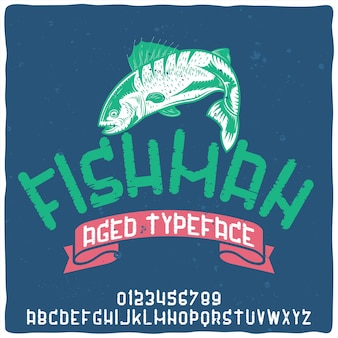 Police d'alphabet vintage nommée fishman.